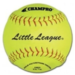 "champro 12"" little league fast pitch softballs - leather - .47 cor - dozen"
