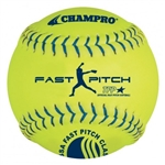 "champro usssa 11"" leather fast pitch softballs .47 cor - dozen"