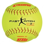 "champro nfhs 12"" fast pitch softball - leather - .47 cor - dozen"