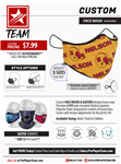Custom Facemask - 2-Ply Polyester - Sublimated (50 Pack) OSFM