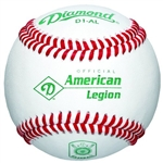 diamond d1-al american legion official game baseballs - dozen