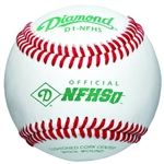diamond d1-nfhs official nfhs game baseballs - dozen