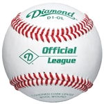 diamond d1-ol official league practice baseballs - dozen