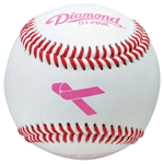 diamond d1-pink pink breast cancer awarness baseballs - dozen