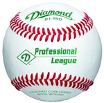 diamond d1-pro professional league leather baseballs - dozen