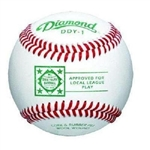 diamond ddy-1 dixie league official game baseballs - dozen
