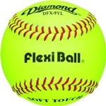 diamond sports dfx-9yl leather flexiball practice baseballs