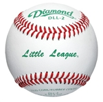 Diamond DLL-2 Little League Leather Baseballs - 10 Dozen