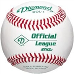 diamond dol-1 nfhs official league baseballs - dozen