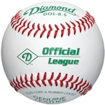 "diamond 8.5"" leather training baseballs - dozen"