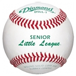 diamond dsll-1 senior league regular season game baseballs - dozen