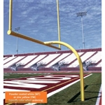 Jaypro Max-1 Aluminum Football Goal Post - 6' Offset / 20' Uprights