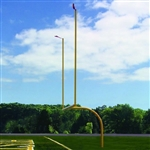 Jaypro Max-1 Aluminum Football Goal Post - 8' Offset / 30' Uprights