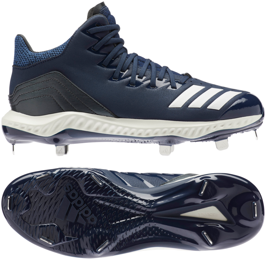 the latest 66b48 f5486 Adidas Icon 4 Bounce Mid Mens Metal Baseball Cleats Larger Photo ...