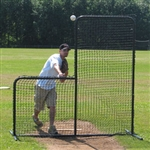 baseball l-screen pitchers screen 7x7 w  wheel kit