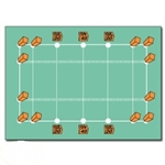 Flag Football Lining Set with Plugs, Pylons, Markers and Pegs - 45 Pcs