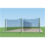 Jaypro Mega Outdoor Batting Tunnel Frame - 55' - Double