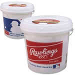 rawlings olb3 recreational play baseballs in bucket (2 dozen)