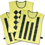 champro sideline official pinnies - set