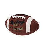 rawlings pee wee pro5 full grain leather football pro5pwb