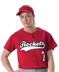 alleson faux womens softball jersey profjw