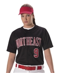 alleson warp knit full button softball jersey pwrpjw