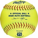 "Rawlings Babe Ruth Official 12"" Softballs - PX2RYLBR - Per Dozen"