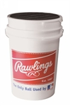 rawlings 3 dozen practice baseballs and bucket combo r100hsx