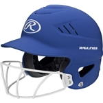 Rawlings Coolflo High School Softball Batting Helmet - Matte / Metallic