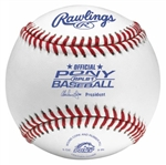 rawlings rplb1 pony league game baseballs - dozen