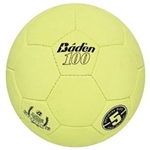 baden official size 5 suede indoor volleyball optic yellow ss100