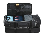 diamond sports wheeled deluxe pro umpires gear bag - black