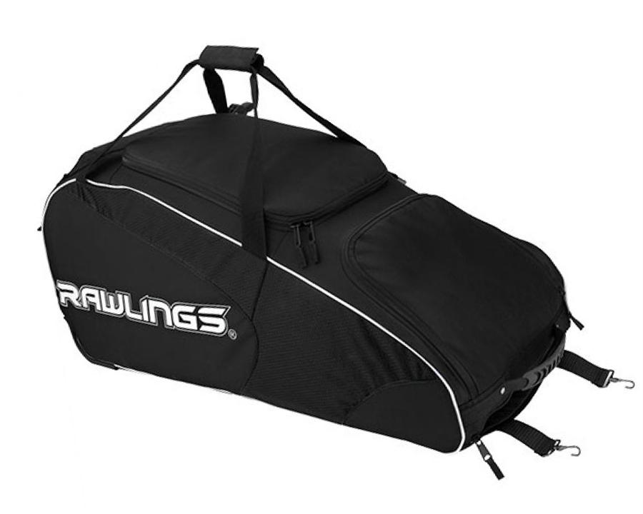 Rawlings Workhorse Wheeled Baseball Softball Catchers Bag