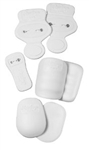 Rawlings 7 Piece Snap Pad Set (White)