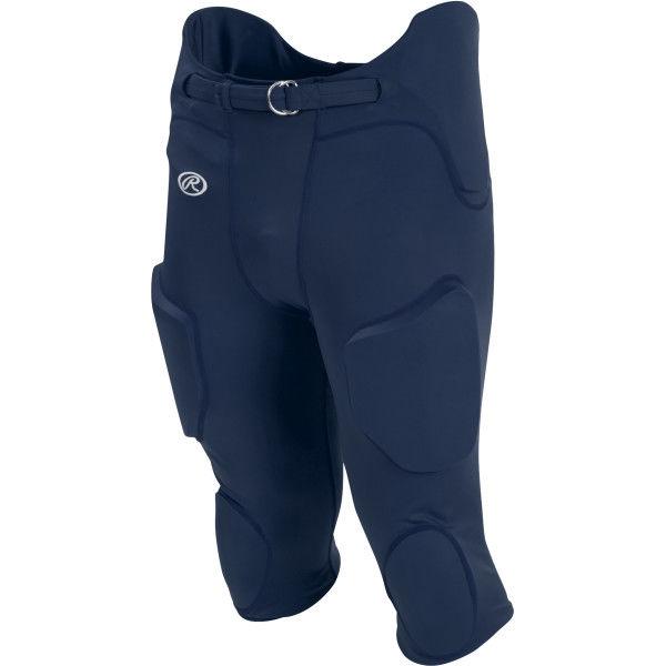 Navy Blue Youth Football Pants Size Medium Snaps NEW