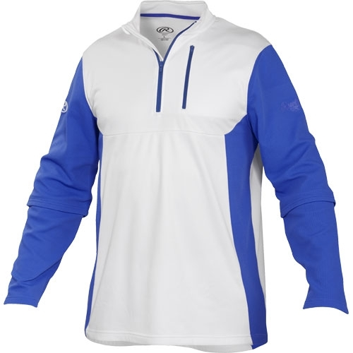 Rawlings Youth 1/4 Zip Tech Fleece Baseball Pullover ...