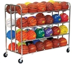 Champion Sports 48 Ball Double Ball Rack - Chrome