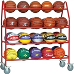 Champion Sports Pro Ball Cart Storage