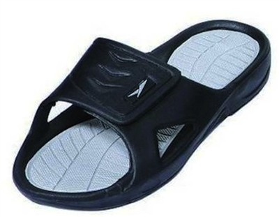 The 138 Men S Rubber Slide Sandal Velcro Strap Sandals