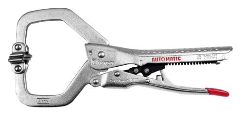 "7"" Automatic C Clamp with Swivel Pads"