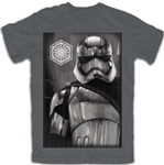 Adult Star Wars Storm Trooper Tee, Charcoal Gray