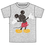 Adult Unisex T-Shirt Word Up Mickey, Gray