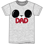 Adult Mens Tee Shirt Dad Fan, Gray