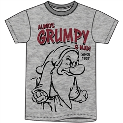 Adult Always Grumpy Tee, Gray