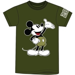 Adult Unisex Tee Casual Mickey, Military Green