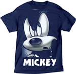 Adult Unisex Tee Shirt Mickey Mean Grill, Navy
