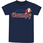 Adult Men's T Shirt Embroidered Grumpy Day, Navy