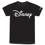 Adult Unisex Tee Shirt Disney Logo, Black (Florida Namedrop)