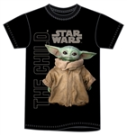 Adult Star Wars Gazing Child Tee, Black