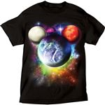 Adult Mens T-Shirt Planet Mickey Mouse, Rich Black